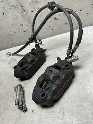 09-16 Suzuki Gsxr1000 Brembo Front Brake Calipers Set Oem 2012