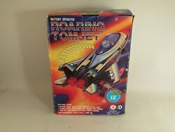 Vintage Battery Operated Roaring Tom Jet Plastic Tom Cat Airplane Toy Nos
