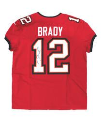 Tom Brady Tampa Bay Buccaneers Signed Autograph Nike Elite Red Jersey Fanatics