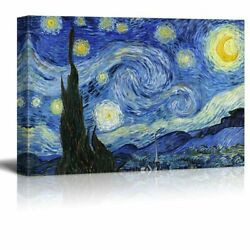 Starry Night By Vincent Van Gogh - Oil Painting Reproduction On Canvas-24 X 36