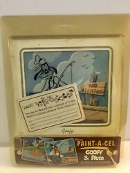Disney's Paint-a-cel Goofy And Pluto Sealed Package