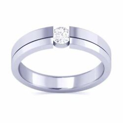Igi Certified 0.40 Ct Diamond Solitaire 14 Kt White Gold Engagement Ring Size 7