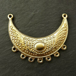 22 Kt Real Solid Yellow Gold Crescent Half Moon Semi Circle Necklace Pendant