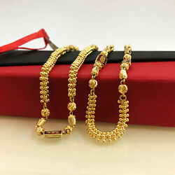 18 Kt Hallmark Real Solid Yellow Gold Link Necklace Chain For Women 33.630 Grams