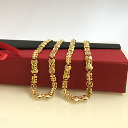 18 Kt Hallmark Real Solid Yellow Gold Link Necklace Chain For Women 21.510 Grams