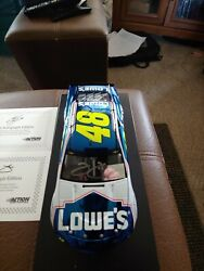 2018 Jimmie Johnson Lowes Last Ride Cc Dual Signed