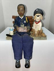 1999 Daddys Figurines And Keepsakes Daniel Shelfsitter Serve And Protect Policeman