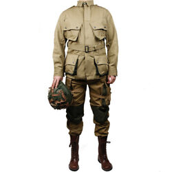 Wwii Us Army Paratrooper M42 Uniform Jacket Pants Airborne Field Clothing Set