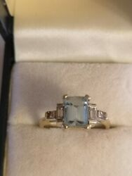18ct Gold Aquamarine And Diamond Ring With Valuation Andpound1950