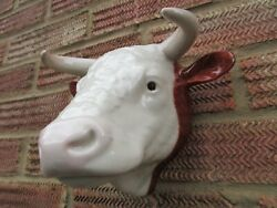 Ceramic Hereford Bull Wall Vase/planter By Quail Ceramics Boxed Ideal Gift