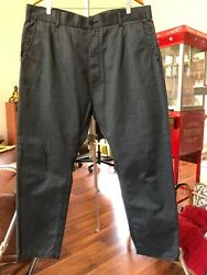 Dolce And Gabbana Pants Grey Black Zip 78 Cotton Size 40 X 28 Made In Italy