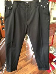 Dolce And Gabbana Black Pants Zip Size 40 X 28 Made In Italy