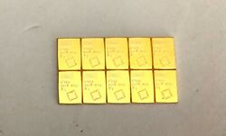 10- 1 Gram, 999.9 Fine Gold Valcambi Bars, See Other Gold, Silver And Coins