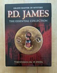 P.d. James The Essential Collection Dvd Set 9 Mysteries On 15 Discs Pbs Like New