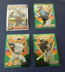 Complete 1993 Topps Finest Baseball Set Griffey Piazza In Binder Nm-mt