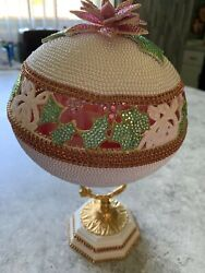 Faberge Egg Art By Wilma Evans One Of Kind Real Ostrich Egg