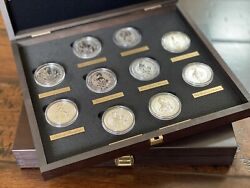 The Queen's Beasts 2oz Silver Bullion Complete Collection Case And Labels And Coins