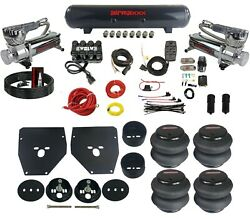 Complete Air Ride Suspension Kit For 63-72 C10 3/8 Evolve Manifold Bags And Tank
