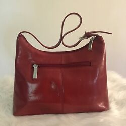 hobo international red leather purse buckle strap Small Bag $50.00