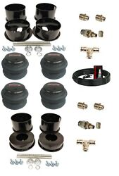 3/8 Front Rear Air Ride Suspension Bag Bracket Mount Kit For 73-81 Chevy A-body
