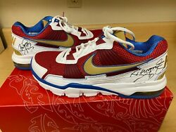 Manny Pacquiao Dual Signed Autograph Nike Trainer Sc 2010 Low Shoes Psa - Rare