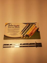 Vintage Parker Duofold Ink Blotter Paper Advert For Pens And Pencils Shows Price