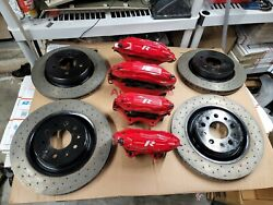 1997 2006 Jaguar Xkr Xk8 Xj8 Brembo Calipers And Rotors Came Off A 2005.