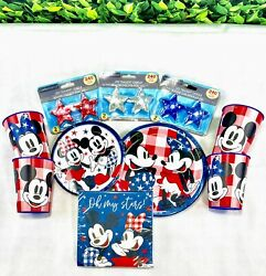 Disney Mickey And Minnie Mouse Plates Napkins Cups Led Candles Party Supplies