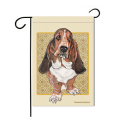 Basset Hound Garden Flag Double Sided 12quot; X 17quot;