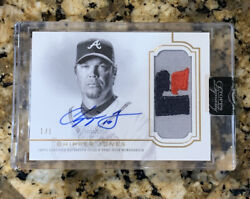 2020 Topps Dynasty Chipper Jones Encased Patch Auto 1/1 Atlanta Braves Hof