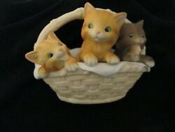 1979 Enesco Forever Nature Fred Aman Cats Kittens Limited Edition Figurine