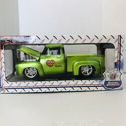 M2 Machines Green 1956 Ford F-100 Hooker Headers Ground Pounders 1518 R50 Nib