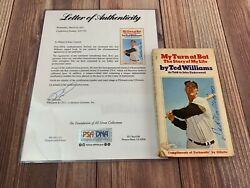 Ted Williams My Turn At Bat Story Of My Life Psa Dna Coa Autograph Signed Book