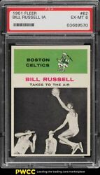 1961 Fleer Basketball Bill Russell In Action 62 Psa 6 Exmt