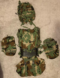 Molle Ii Large Ruck Main Pack With Frame Pouches And Assault Pack Woodland Camo