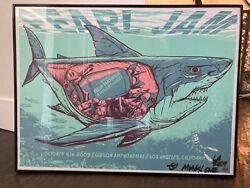 Pearl Jam Los Angeles 2009 Concert Poster Signed By Artist Munk One 10/6/2009