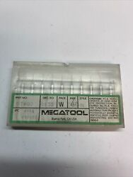 Megatool St80 0.0135 Tungsten Carbide Microdrill Pack Of 10