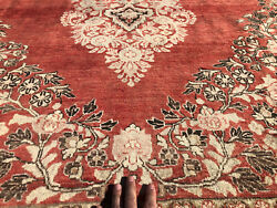 9x12 Vintage Red Handmade Rug Hand-knotted Antique Oriental Large Carpet 8x12 Ft