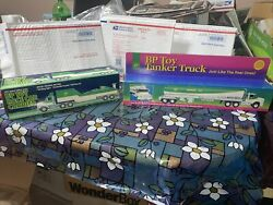 Vintage New In Boxes 1994 Bp Toy Tanker Truck And Toy Race Car Carrier Limited Ed