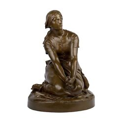 Antique French Bronze Sculpture Joan Of Arcandrdquo By Henri Chapu And F. Barbedienne