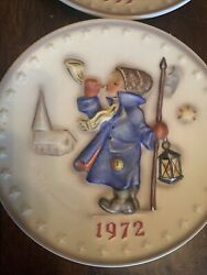 Mj Hummel Annual Collector 6 Plates 1972-1977 Hand Painted W. Goebel
