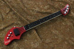 Vintage 1987 Guild Ashbory Bass Guitar Candy Red With Soft Case