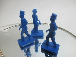 Ravensburger Ghost Midnight Party 3 Blue Pawns Figures Replacement Pieces Jb