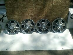 1966 67 Ford Mustang 14 Mag Wheel Hubcaps Gt 350 Shelby Set Of 4