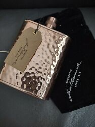 Jacob Bromwell Freedom Flask Hammered Copper 12oz Hand Made New Msrp 700