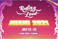Rolling Loud Festival Concert 3 Day Ga Pass - Friday July 23. 12pm