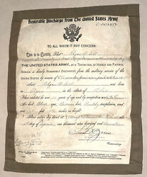 Wwi Us Army Named Honorable Discharge Paper