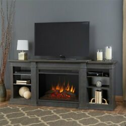 Real Flame Eliot 81 Fireplace Tv Stand In Antique Gray
