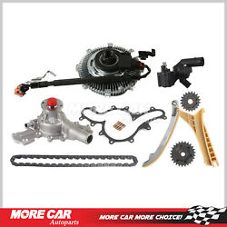 Timing Chain Kit Water Pump Fan Clutch Thermostat Housing Assembly Fit Ford 4.0l