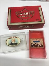 Lot Of 3 Vintage Cigar Boxes Swisher Sweets1, Dutch Masters1, Rg Dunn 1